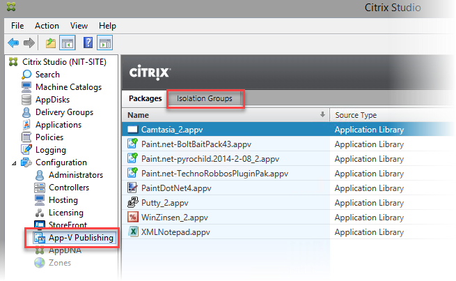 Citrix Isolation Groups